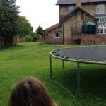 A rusty trampoline