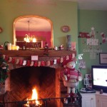 Christmas in the newly decorated living room
