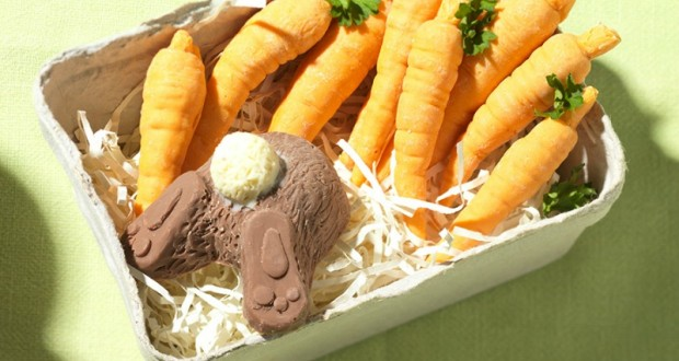 Different easter gifts for adults and kids the consumer voice chocolate rabbit and carrots negle Gallery